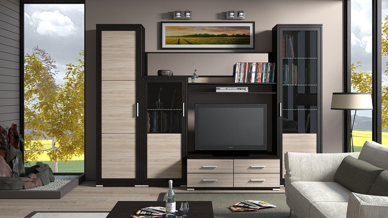 Мебель из ЛДСП для гостиной: достойный интерьер своими руками