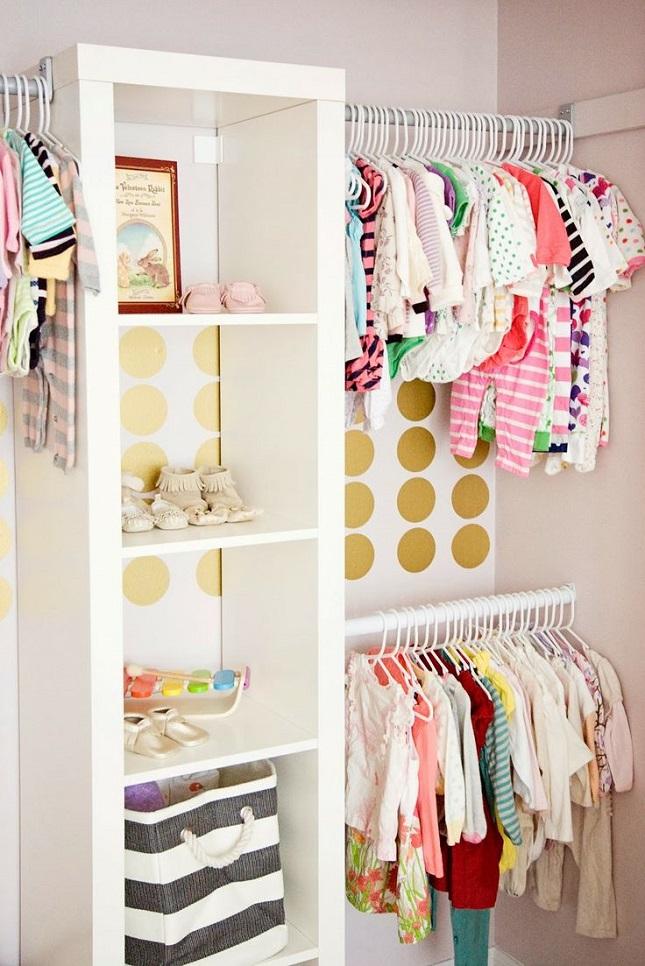 Открытые шкафы или гардеробная своими руками